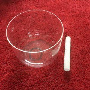 Clear Quartz Crystal Singing Bowl 10 inch