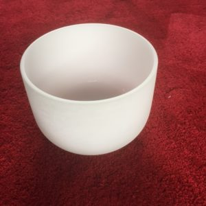 Frosted Quartz Crystal Singing Bowl 11 inch