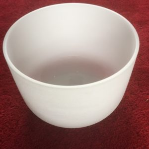 Frosted Quartz Crystal Singing Bowl 13 inch