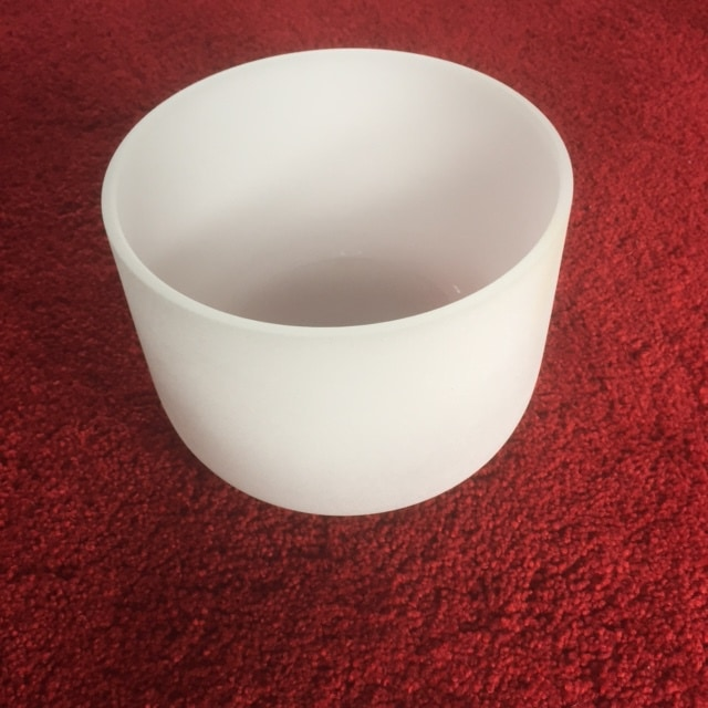 Frosted Quartz Crystal Singing Bowl 8 inch