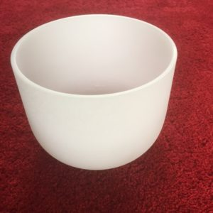 Frosted Quartz Crystal Singing Bowl 9 inch