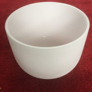 Frosted Quartz Crystal Singing Bowl 12 inch