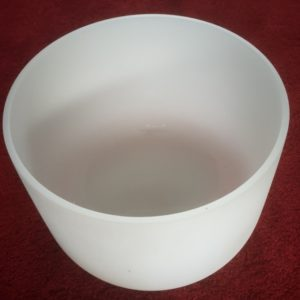 Frosted Quartz Crystal Singing Bowl 16 inch